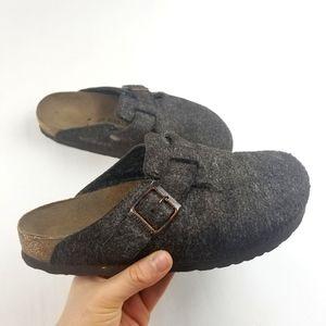 Birkenstock Boston Mocha Brown Slip On Sandals